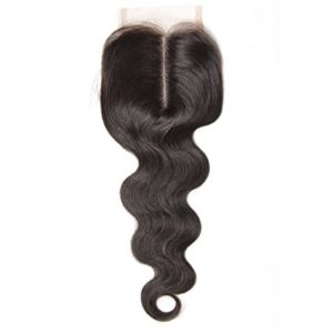 B&F Hair Brazilian Virgin Hair 1piece Body Wave Middle Part Lace Closure 100% Human Hair Natural Color