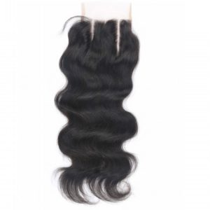 Beata Hair 130% Density Brazilian Body Wave Lace Closure 3 Part 100% Virgin Human Hair Closure with Bleached Knots (08inch)