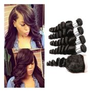 Passion Beauty 8-30inch Brazilian Virgin Loose Wave 3 Bundles 95-100g/pc Unprocessed Virgin Brazilian Human Hair