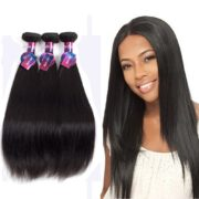 "Mornice Hair 10A Peruvian Virgin Hair 3 Bundles 18"" 20"" 22""Straight Human Hair Extensions 100% Unprocessed Natural Color"
