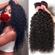 Beauty Forever Hair Brazilian Virgin Curly Hair Weave 3-pack/lot Bundles 100% Unprocessed Human Hair Extensions Nature Color (100+/-5g)/ Pc (10 12 14)