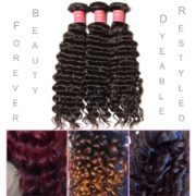 Beauty Forever 6A Virgin Brazilian Hair Deep Curly Wave 3 Bundles 100% Unprocessed Human Hair Extensions (14 16 18inch)
