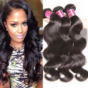 Unice Hair 18 20 22inch Brazilian Virgin Human Hair Weave 3 Bundles Deal Brazilian Body Wave Hair Weft Extensions Natural Color
