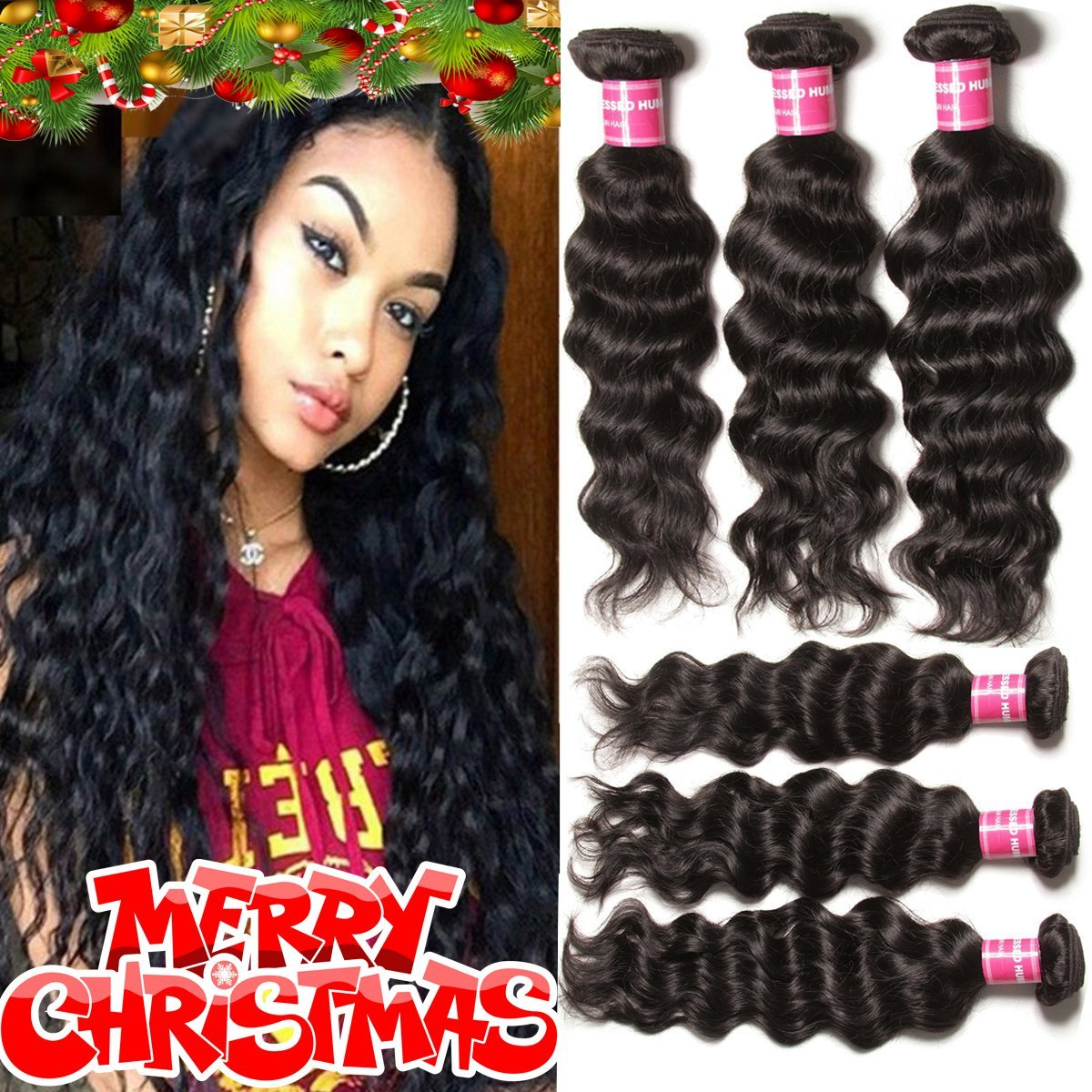 Beauty Forever Hair Brazilian Natural Water Wave Virgin Hair Weave 3
