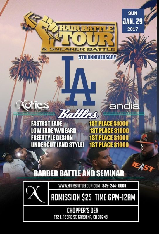 XOTICS HAIR BATTLE TOUR 2017 LOS ANGELES BARBER/SNEAKER BATTLE
