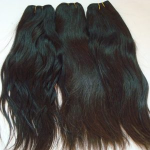 "10a Grade natural straigth indian temple Human Hair Weave Unprocessed Virgin Human Hair Bundles Natural Color (3 pcs of 8"")"