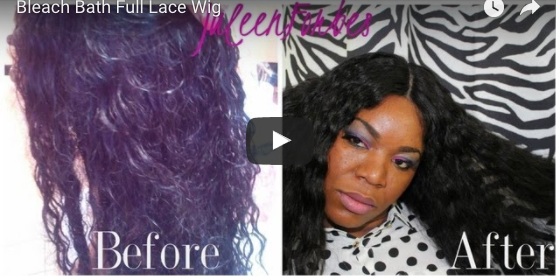 Revive Your Full Lace Wig with a bleach bath - Black Hair Ology