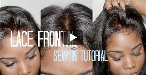 How to Sew-in Your Lace Frontal NO HAIR OUT
