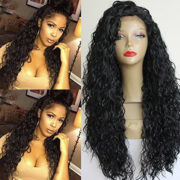 Lace Front PlatinumHair #1b loose curl wigs synthetic wigs heat resistant synthetic wigs 24-26