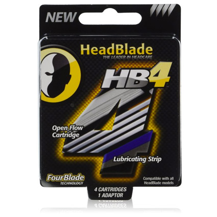 HeadBlade HB4 FourBlade Shaving Cartridges (4 Blades)