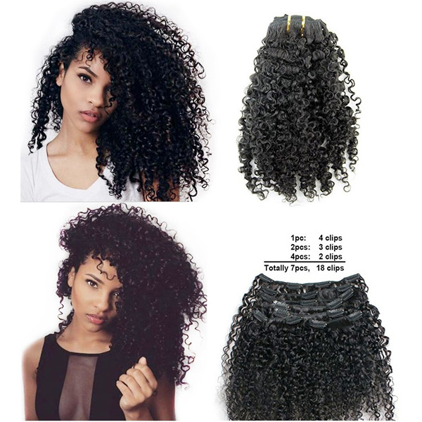 Ms Fenda Brazilian Remy Virgin Hair Kinky Curly 3b 3c Natural Color