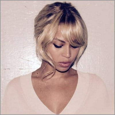 cute sew ins with bangs - blonde