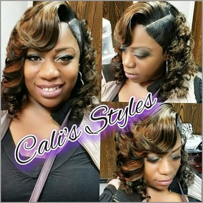 cute sew ins with bangs - by CalisStyles