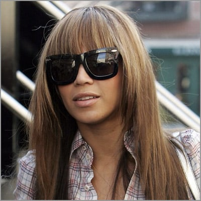 cute sew ins with bangs - Beyonce