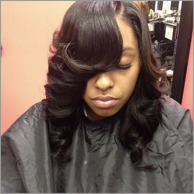 cute sew ins with bangs - Bob