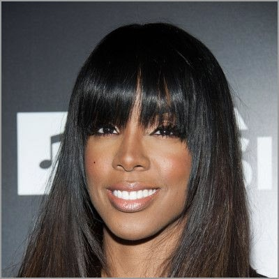 cute sew ins with bangs - Kelly Rowland