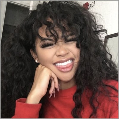 cute sew ins with bangs - Long Curls