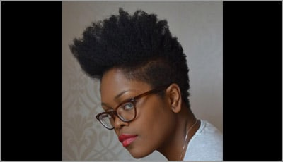 Funky Natural Hairstyle High Top