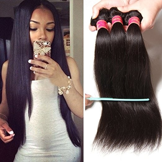 Nadula 6a Brazilian Straight Hair Weaves