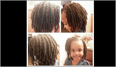 Natural Twist Hairstyles for Kids - Braids