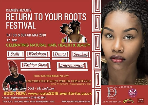 Return to Your Roots Festival - May 5th-6th 2018 - Birmingham England