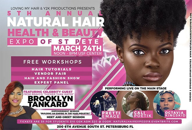 5th Annual Natural Hair Health & Beauty Expo of St. Petersburg - March 24, 2018