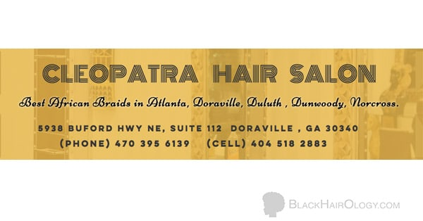 Cleopatra Hair Salon store Sign