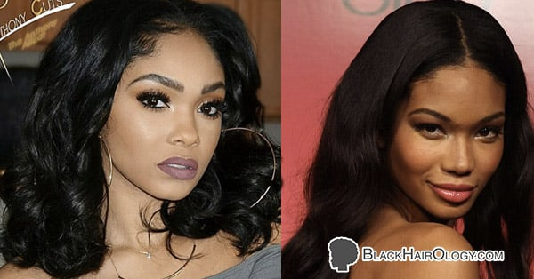 Anthony Cuts and Chanel Iman Black Weave Hairstyles