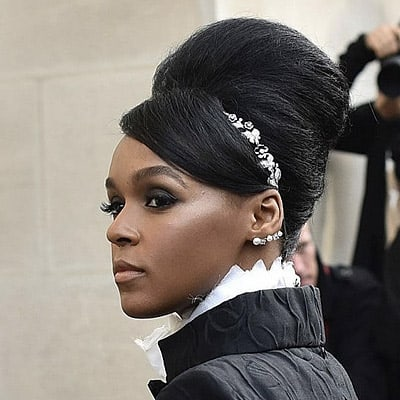 Janelle Monae Black Weave Hairstyle