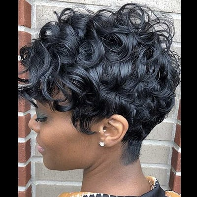Pixie Cut Black Weave Hairstyle