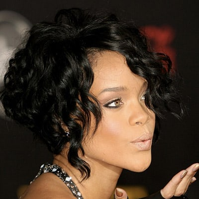 Rihanna Black Weave Hairstyle