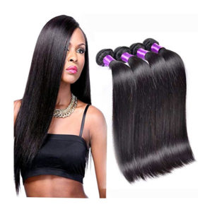 Queen Plus Hair 7a Peruvian Virgin Straight Hair 40 inch 4 Bundles 100% Unprocessed Human Hair Weave Bundles Human Hair Extensions 4 Bundles Deal
