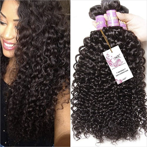 Unice Hair 3 Bundles Brazilian Curly Virgin Hair Weave 20 18 16 inches