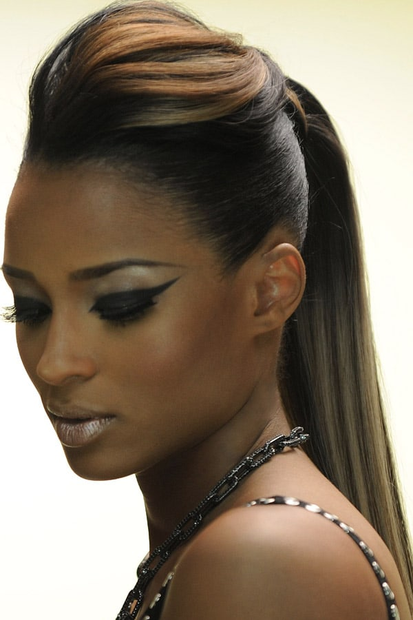 Slick Back Ponytail with Weave - Ciara
