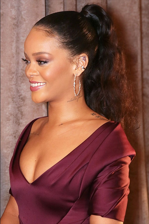 Slick Back Ponytail with Weave - Rhianna